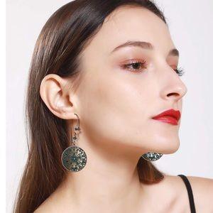 BOHO NWT Circle Drop Earrings